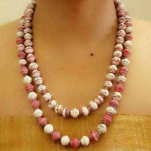 Paper Bead Necklace 61