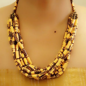 Paper Bead Necklace 64