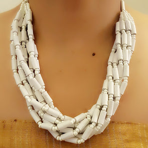 Paper Bead Necklace 66