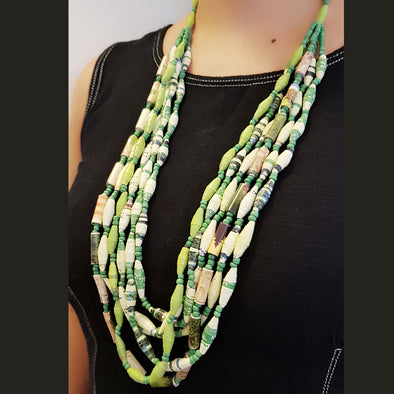 Paper Bead Necklace 6