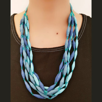 Paper Bead Necklace 7