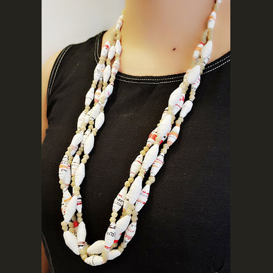 Paper Bead Necklace 8