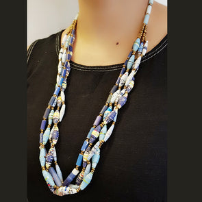 Paper Bead Necklace 9