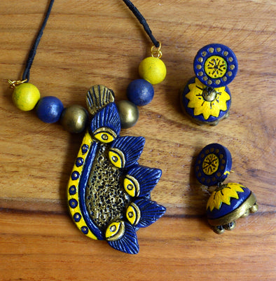 Handmade Terracotta Necklace Set