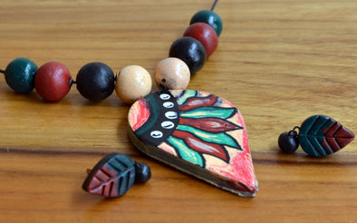 Handmade Terracotta Necklace Set 2