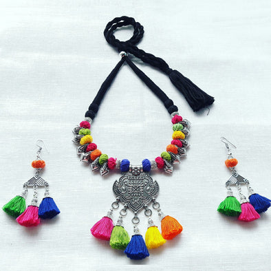 Mayur Thread Statement Necklace