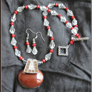 Maroon Love Necklace