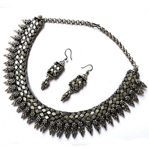 Oxidised Chattai Necklace