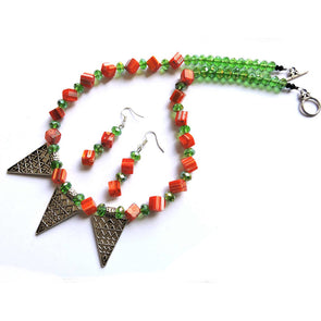 The Green Pledge Necklace Set