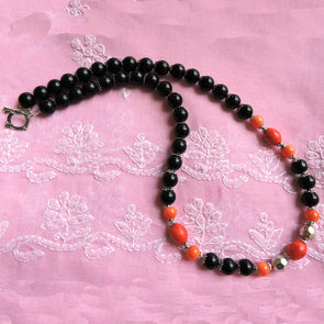 Black and Red Necklace