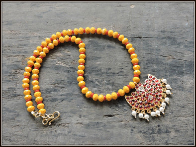 Aadrika Kemp Series - Red & Yellow Bead Necklace