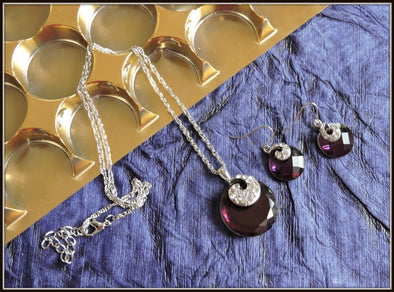 Fashion Necklace - Purple Crystal