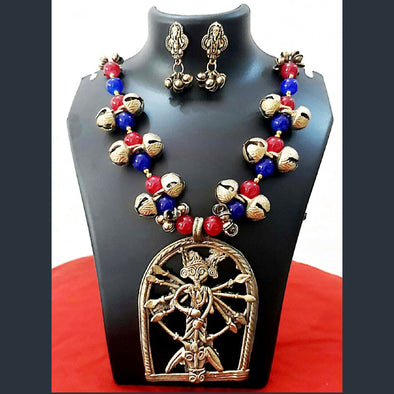 Dokra Durga Necklace Set