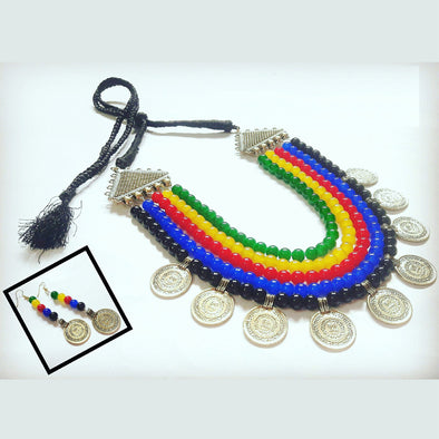 Multi Colour Statement Neckpiece