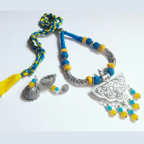 Floral Locket Statement Neckpiece