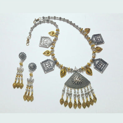 Ganpati Padma Pendant Statement Necklace