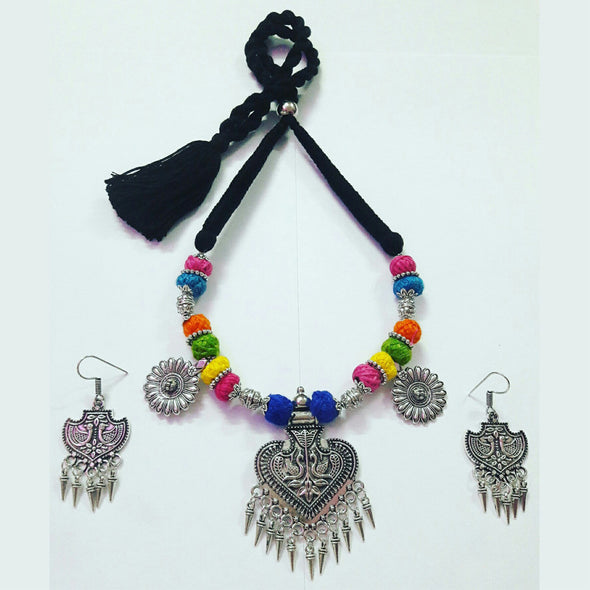Floral Peacock Statement Neckpiece