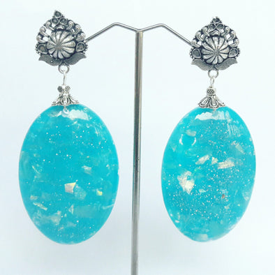 Sky Ceramics Beads Earrings