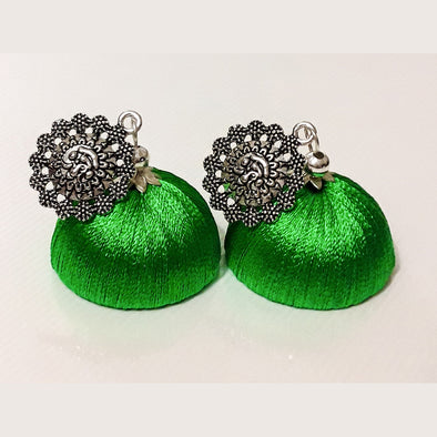 German Silver Thread Earrings