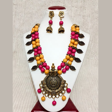 Traditional Kolhapuri Bead Necklace Set
