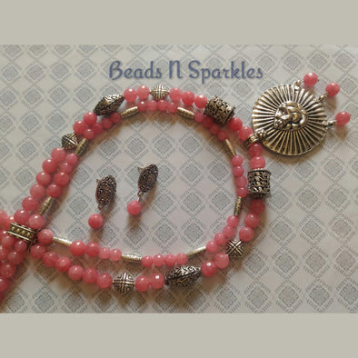 Pink Ganesha Necklace Set