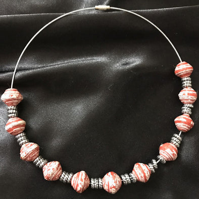 Paper Beads Necklace 2