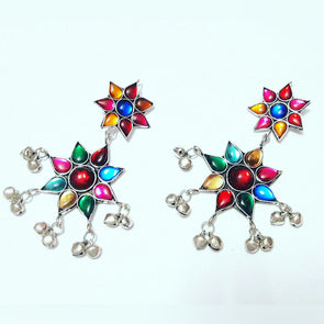 Multi Colour Afghani Earrings