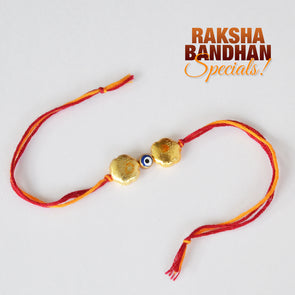 Brushed Bead and Evil Eye Rakhi