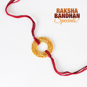 Golden Mesh Rakhi