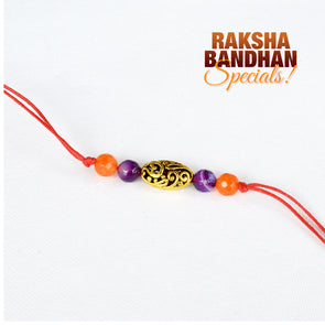 Filigree Bead and Jades Rakhi