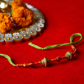 Pital Rakhi Combo: Light Green