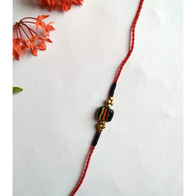 Pital Rakhi Combo Red & Black