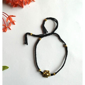 Pital Rakhi Combo Black & Golden