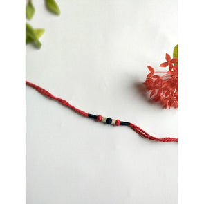 Pital Rakhi Combo Black & Red