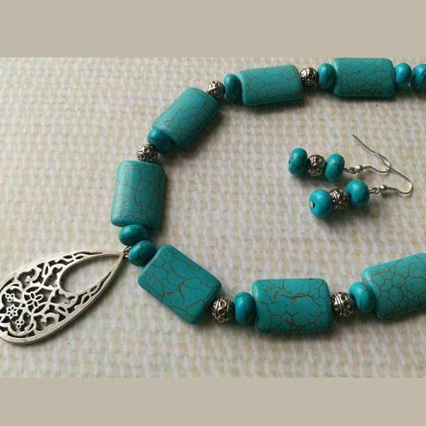 Royal Turquoise Necklace Set