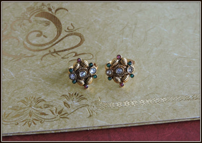 Golden Copper Material Toe Ring 06