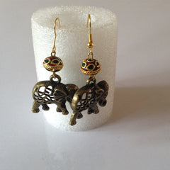 elephant hanging earrings