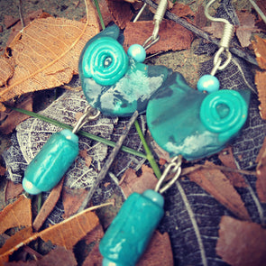 Polymer Clay Hanging Earring 2