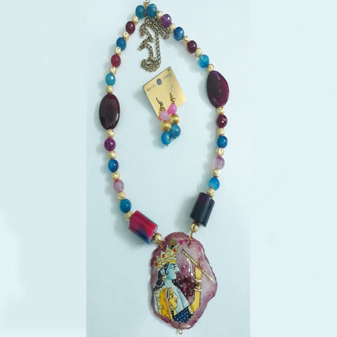 Tanjore Painting Necklace