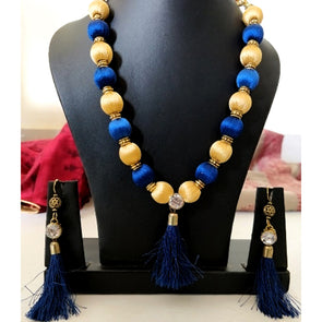 Blue and Golden Tassles Set
