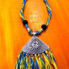 Ganesha Pendant Necklace With Tassels