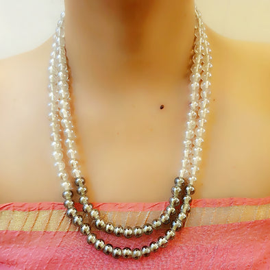 The Bead Story - Two Layer Pearl Necklace