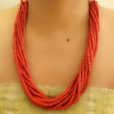 The Bead Story - Red Multi layer Necklace