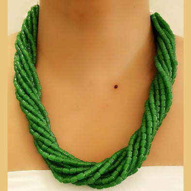 The Bead Story - Green Multilayer Necklace