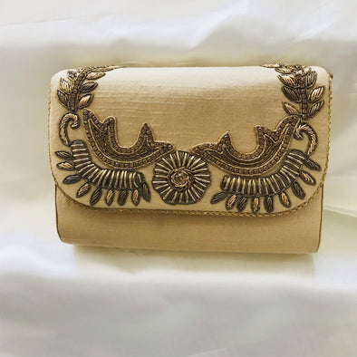 Zardozi Silk Clutch