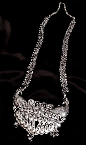 German silver long necklace 4