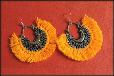 Tassel Earrings - Canary Yellow