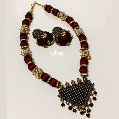 Silk Thread Necklace Set 4