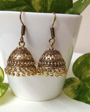 Antique hanging jhumkas