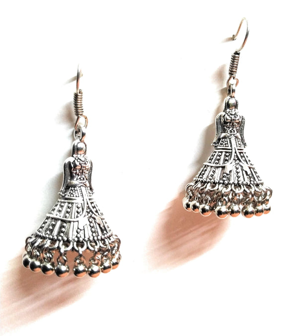 Germansilver Doll Jhumka Earring